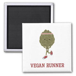 Vegane Läufer-Artischocke Kühlschrankmagnete