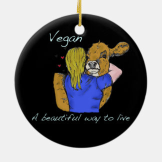 Vegane schöne Weise A, zu leben Verzierung Keramik Ornament