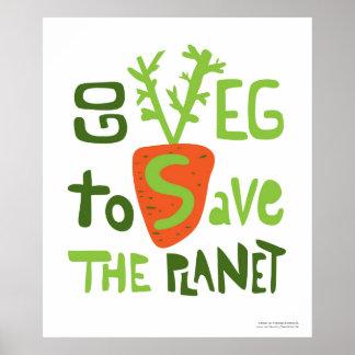 Vegane Slogan-Hand schriftliches Gekritzel-Plakat Poster