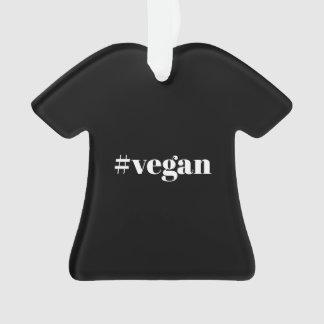 Vegane T - Shirt-Weihnachtsverzierung Ornament