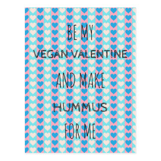 VEGANE VALENTINE Postkarte für Vegans