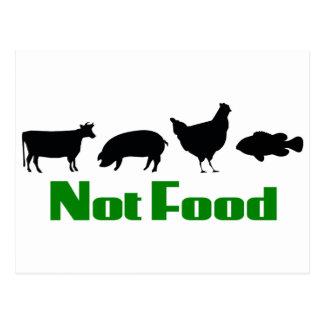 Vegane/Vegetarier-nicht Nahrung Postkarte