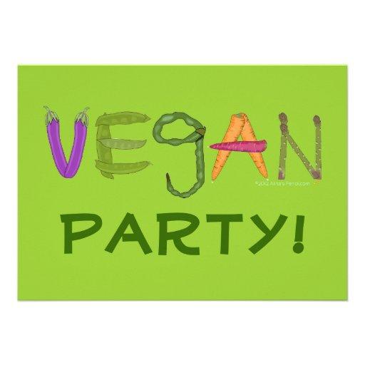 Vegane Veggies-Gemüse-Liebhaber Personalisierte Einladungskarte