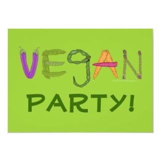 Vegane Veggies-Gemüse-Liebhaber 12,7 X 17,8 Cm Einladungskarte