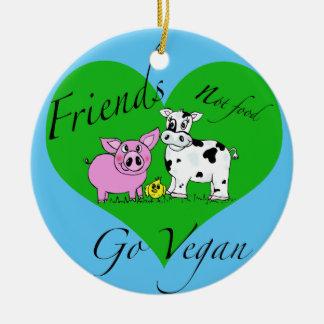 Vegane Verzierung Nahrung der Freunde nicht Keramik Ornament