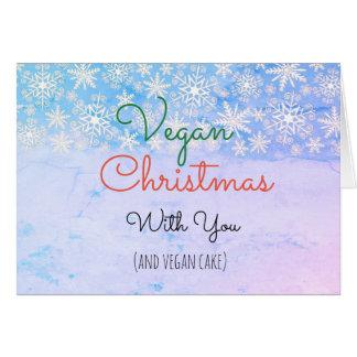 Vegane Weihnachtsgrußkarte für veganes Karte