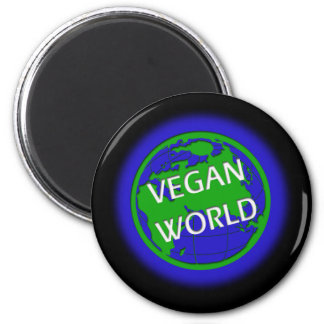 Vegane Welt Kühlschrankmagnet