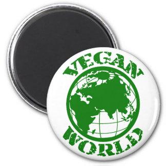 Vegane Welt Runder Magnet 5,7 Cm