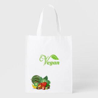 Vegane wiederverwendbare Markt-Tasche Wiederverwendbare Tragetaschen
