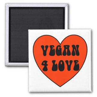 Veganer 4 Liebe-quadratischer Magnet Quadratischer Magnet