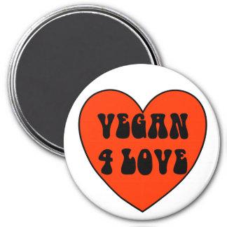 Veganer 4 Liebe-runder Magnet Runder Magnet 7,6 Cm