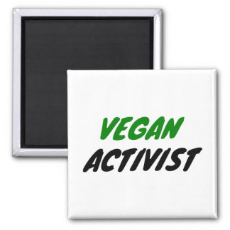 Veganer Aktivist Quadratischer Magnet