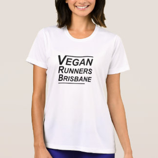 Veganer Läufer-Brisbane-Frauen T-Shirt