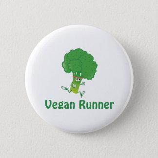 Veganer Läufer - Brokkoli Runder Button 5,7 Cm