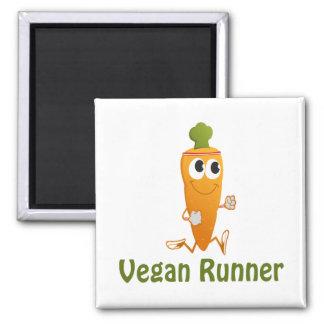 Veganer Läufer - Karotte Kühlschrankmagnete