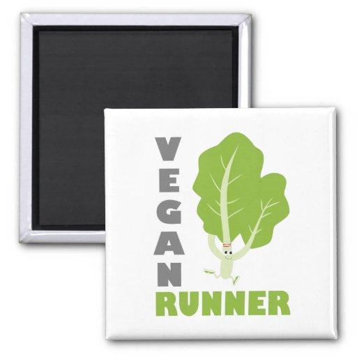 Veganer Läufer - Kohl Kühlschrankmagnete