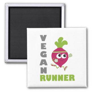 Veganer Läufer - rote Rübe Kühlschrankmagnet