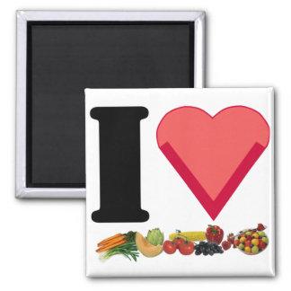 Veganer Liebe-Magnet 1 Quadratischer Magnet