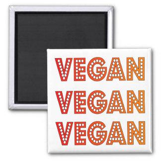 Veganer Logo-Quadrat-Magnet Quadratischer Magnet