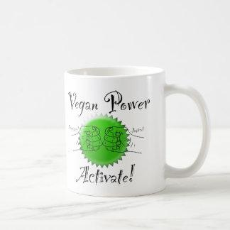 Veganer Power aktivieren Kaffee-Tasse Kaffeetasse