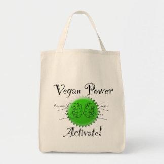 Veganer Power aktivieren Tragetasche