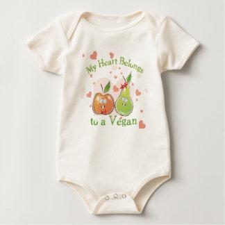 Veganer Valentinstag Baby Strampler