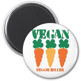 Veganer Veggiemörder Kühlschrankmagnet