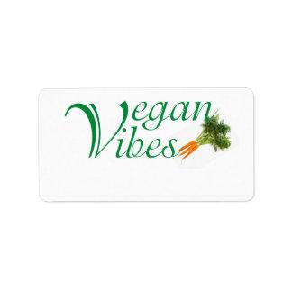 Veganer Vibes Adressaufkleber