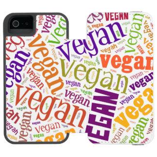 """Veganer"" Wort-Wolke Mosaik iPhone 6 Incipio Watson™ iPhone 5 Geldbörsen Hülle"