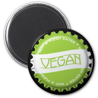 Veganes Bottlecap Runder Magnet 5,7 Cm