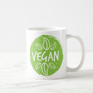 Veganes hellgrünes kaffeetasse