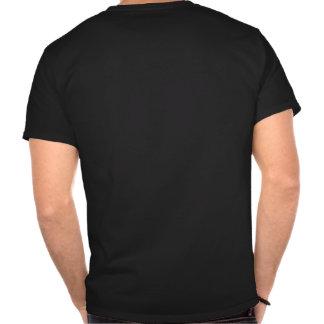 Veganes OM im Grün auf schwarzem T - Shirt