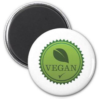 Veganes Siegel Runder Magnet 5,1 Cm