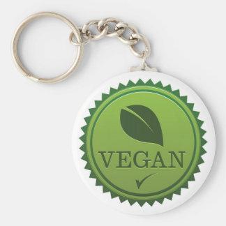 Veganes Siegel Standard Runder Schlüsselanhänger