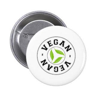 Veganes Sportlogo Runder Button 5,7 Cm