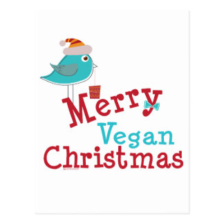 Veganes Weihnachten Postkarte