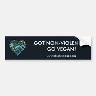 """Veganes"" Wort-Wolke Mosaik (Herz) u. Zitat Autoaufkleber"