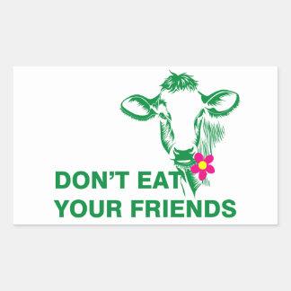 Veganism Rechteckiger Aufkleber
