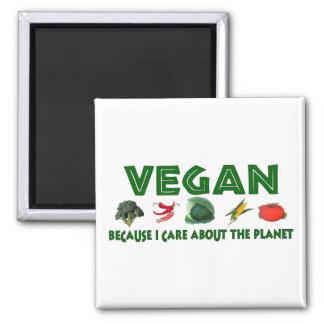 Vegans für den Planeten Quadratischer Magnet
