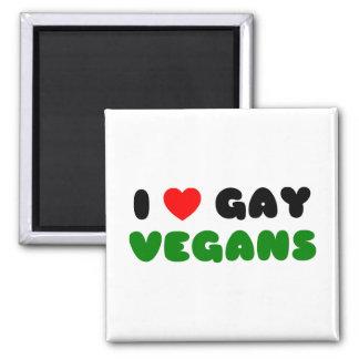 Vegans Homosexuelles der Liebe I Quadratischer Magnet
