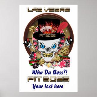 Vegas-Beispielgruben-Chef-Ansicht-Künstler-Komment Poster
