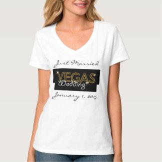 Vegas beleuchtet gerade verheirateten T - Shirt