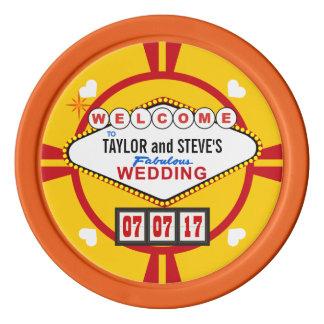 Vegas-Gastgeschenk Hochzeits-Kasino-Poker-Chips Poker Chips Set