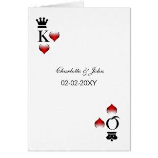 Vegas-Hochzeit Einladungskarten