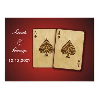 Vegas-Hochzeitseinladung 12,7 X 17,8 Cm Einladungskarte