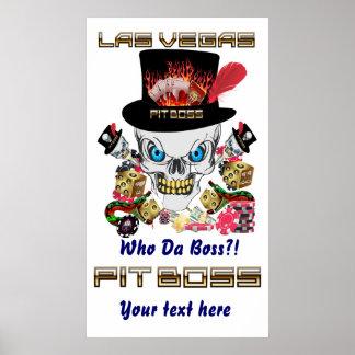 Vegas-Kasino-Gruben-Chef-Ansicht-Künstler-Kommenta Plakatdrucke