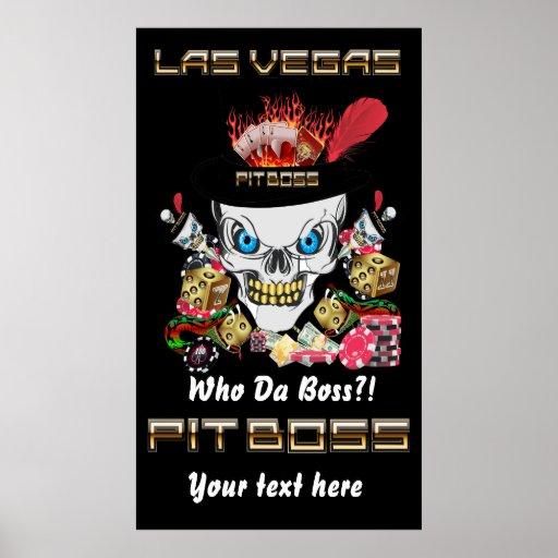 Vegas-Kasino-Gruben-Chef-Ansicht-Künstler-Kommenta Posterdrucke