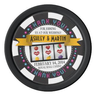 Vegas-Kasino-Hochzeit in Urlaubsort danken Ihnen Poker Chips