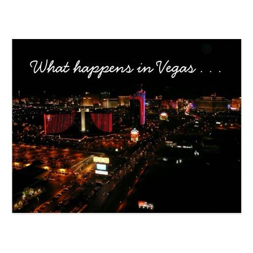 Vegas-Streifen-Ereignisse Postkarte