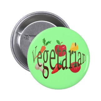 Vegetarier Anstecknadelbuttons